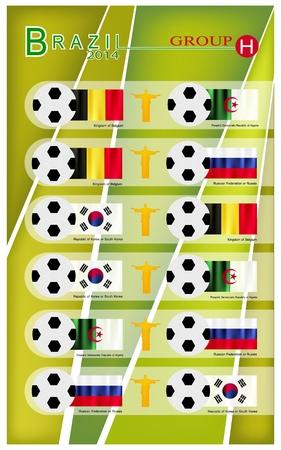 nações: Brasil 2014 Grupo H, Bandeiras de 4 Na