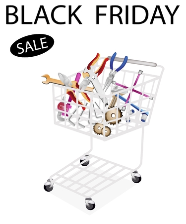 lug: Shopping Cart Full with Various Type of Auto Service and Repair Tool Kits for Black Friday Shopping Season and Biggest Discount Promotion in A Year.