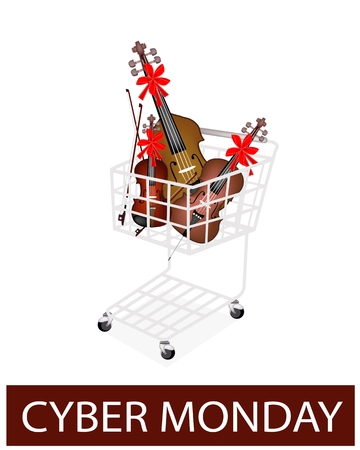 contra bass: Beautiful Violin, Cello and Double Bass with Bows for Cyber Monday Shopping Season and Biggest Discount Promotion in A Year.