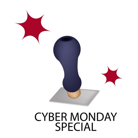 Handle Stamper Ready to Stamping Black Friday Special for Cyber Monday Shopping Season and Biggest Discount Promotion in A Year.  Vector