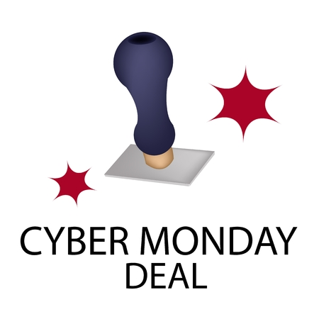 Handle Stamper Ready to Stamping Black Friday Deal for Cyber Monday Shopping Season and Biggest Discount Promotion in A Year.  Vector