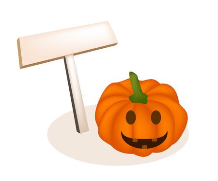 Un Corte De La Calabaza De Halloween, La Calabaza Y Un Patrón ...