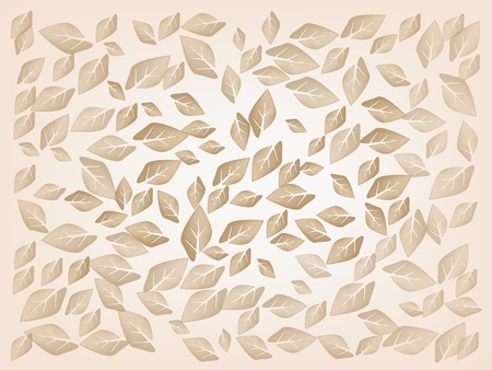 fallen: An Illustration Dried Fallen Leaves Laying on A Brown Background, The Sign of Autumn Season. Illustration