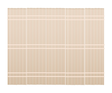 Traditional Japan, Illustration of Makisu Is A Mat Woven From Bamboo for Make Rolled Sushi. Vettoriali