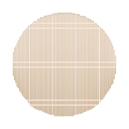 bamboo mat: Traditional Japan, Illustration of Round Makisu Is A Mat Woven From Bamboo for Make Rolled Sushi.