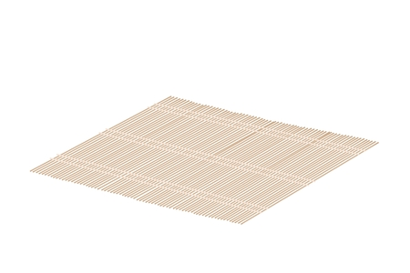 floor mat: Traditional Japan, Illustration of Makisu or A Mat Woven From Bamboo for Make Rolled Sushi. Illustration