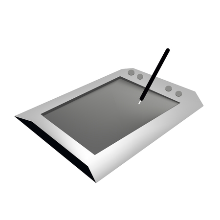 signatures: Computer and Technology, Professional Graphics Tablet or Digitizer with Pen Used to Hand Draw Images, Animations and Graphics or Hand Written Signatures.