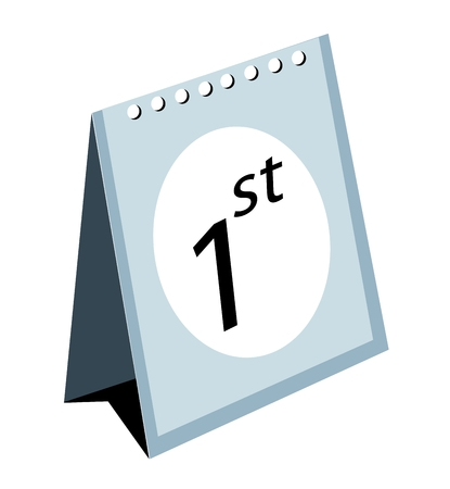 calendar isolated: Bussiness Concepts, Illustration of Standing Calendar Isolated on A White Background. Illustration
