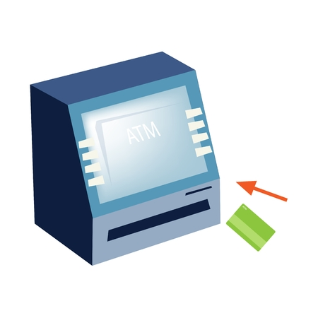 bankomat: Business and Financial Concepts, Illustration of 16 Cash Machine, Cash Dispenser, ATM or Automated Teller Machine. Illustration