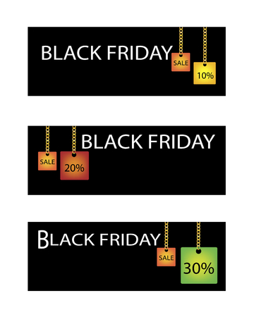 percentages: Percentages Discount in Black Friday Shopping Label, Sign for Start Christmas Shopping Season.