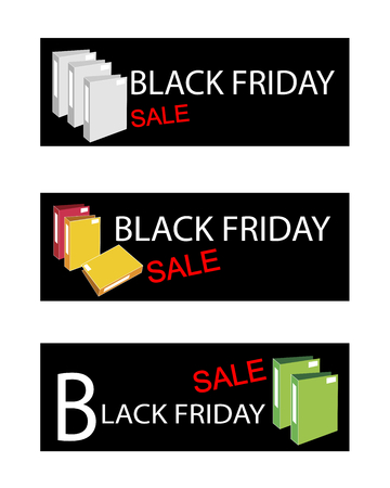 storage data product: Illustration of File Folder or Office Foloder on Black Friday Shopping Labels for Start Christmas Shopping Season.