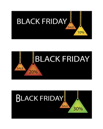 percentages: Percentages Discount Sale in Black Friday Shopping Label, Sign for Start Christmas Shopping Season.