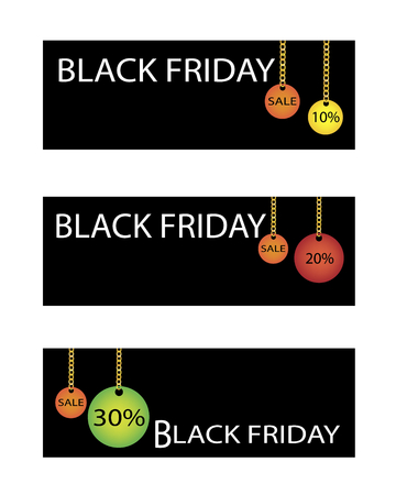 percentages: Percentages Discount in Black Friday Sale Shopping Banner, Sign for Start Christmas Shopping Season.