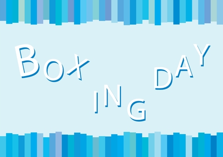 boxing day special: Blue Background of Boxing Day Shopping for Start Christmas Shopping Season.