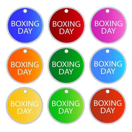 boxing day: Boxing Day Shopping Labels for Start Christmas Shopping Season. Illustration