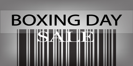 boxing day sale: Boxing Day Sale Barcode for Special Time in Christmas Shopping Season.