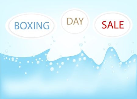 boxing day: Boxing Day Shopping Background for Start A Christmas Shopping Season. Illustration