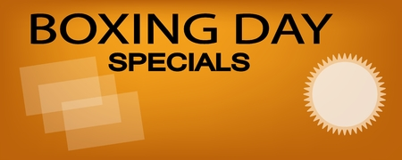 boxing day: Boxing Day Special on Orange Banner with Paper Shopping Bags, Sign for Start Christmas Shopping Season. Illustration