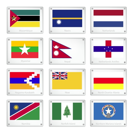 mariana: Flags of Mozambique, Nauru, Netherlands, Myanmar, Nepal, Netherlands Antilles, Nagorno Karabakh, Niue, North Ossetia Alania, Namibia, Norfolk Island and Northern Mariana Islands.
