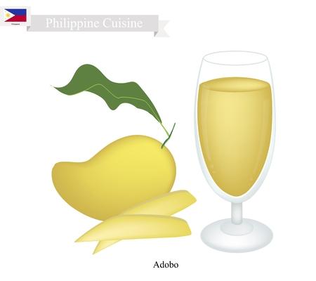 mango juice: Philippine Cuisine, Fresh Mango Juice. One of The Most Popular Drink in Philippines.