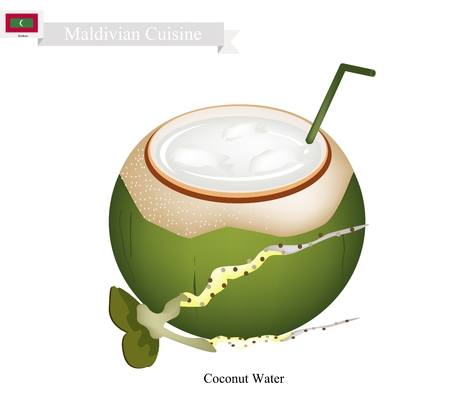 coconut water: Maldivian Cuisine, Fresh Coconut Water Drink. One of The Most Popular Drink in Maldives.