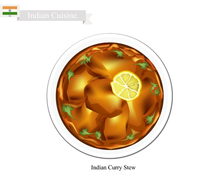 curry: Indian Cuisine, Traditional Indian Curry Stew. One of The Most Popular Dish in India.