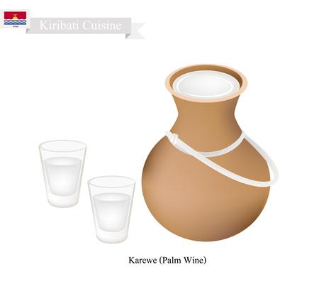 kiribati: Kiribati Cuisine, Karewe or Traditional Palm Wine. One of The Most Popular Drink in Kiribati.