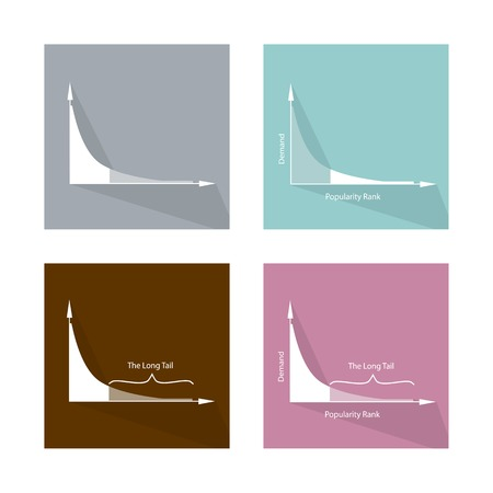 standard deviation: Charts and Graphs, Illustration Set of Fat Tailed and Long Tailed Distributions Chart Label.
