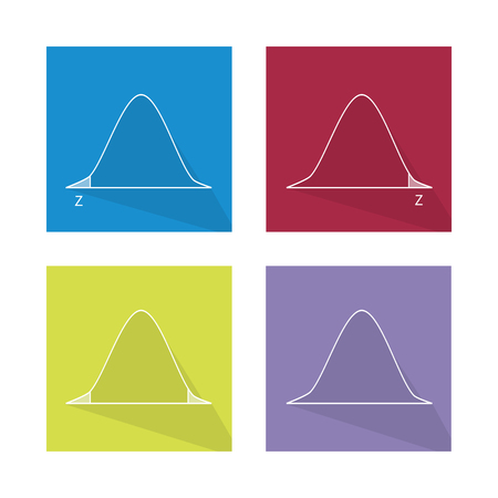 gaussian distribution: Charts and Graphs, Illustration Collection of Gaussian Bell Curve or Standard Normal Distribution Curve.