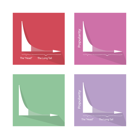 standard deviation: Charts and Graphs, Illustration Collection of Fat Tailed and Long Tailed Distributions Chart Banners. Illustration