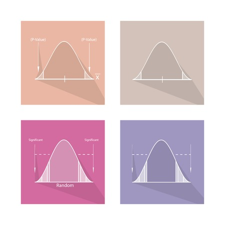 normal distribution: Charts and Graphs, Illustration Set of Gaussian Bell Curve or Standard Normal Distribution Curve.