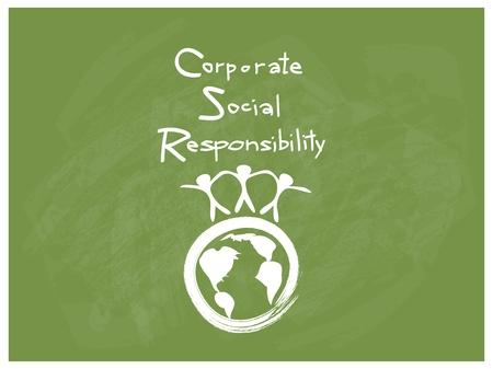 비즈니스 개념, CSR 약어가있는 세계 환경 또는 기업의 사회적 책임 달성 메모.