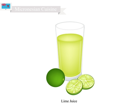 Micronesian Cuisine, A Traditional Lime Juice. One of The Most Popular Drink in Micronesia.