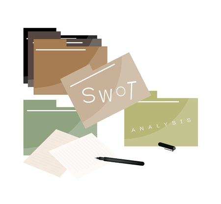 weaknesses: File Folder or Computer Folder with SWOT Analysis Matrix A Structured Planning Method for Evaluate Strengths, Weaknesses, Opportunities and Threats. A Foundation Strategy Management Plan.