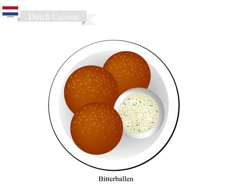 Hollandse Keuken, Bitterballen of Traditionele Gehaktballetjes.