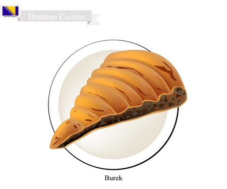 Burek or Traditional Twisted Meat Pie