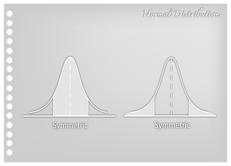 Business and Marketing Concepts, Illustration Paper Art Craft of Standard Deviation, Gaussian Bell or Normal Distribution Curve.