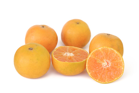 Orange fruit on white background for healthy eating concept