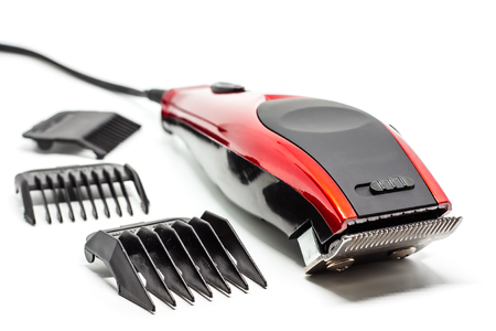 Hair clipper on white background for beauty salon equipment concept