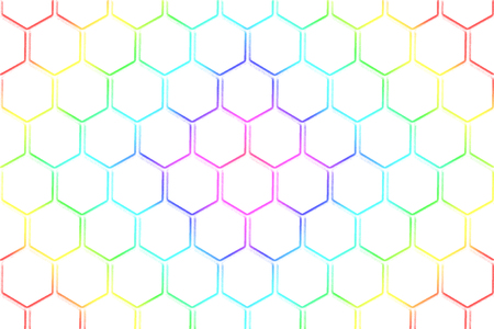 Abstract white honeycomb pattern with rainbow colour for background Reklamní fotografie - 101519359