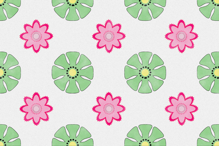 Colourful flower pattern with paper textured for background and wrapping paper design