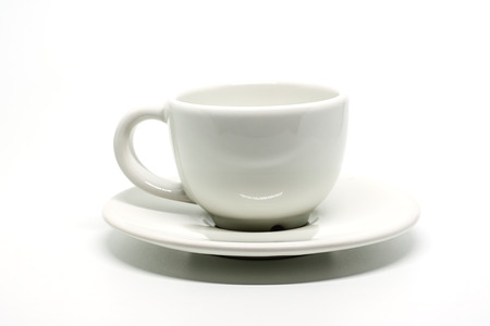Coffee cup on white background for drinks and beverage concept