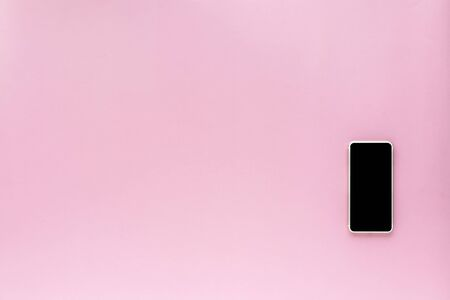 Smartphone on pink