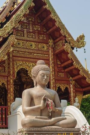 stone buddha: Stone Buddha at temple, Chiang Rai, Thailand