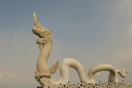 Naga statue in northern Thailand photo