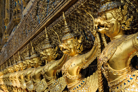 Golden garuda at Wat Phra Kaew, Bangkok, Thailand photo