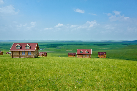 inner mongolia: Inner Mongolia grassland scenery Stock Photo