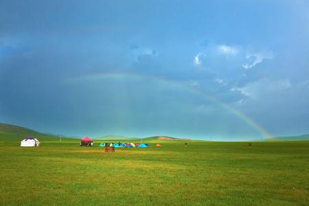 mongolia: Inner Mongolia grassland scenery Stock Photo