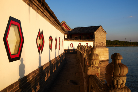 the summer palace: landscape view in summer palace Editorial
