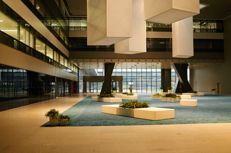 office space: Office building lobby space